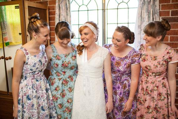 Pattern Dresses For Bridesmaids Philly In Love Classy Floral Pattern Bridesmaid Dresses