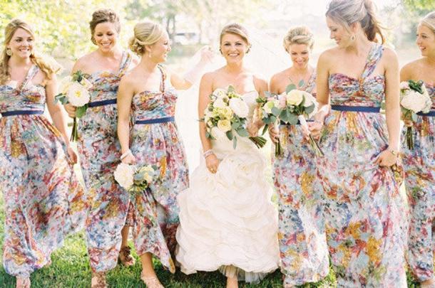 Pattern Bridesmaid Dresses