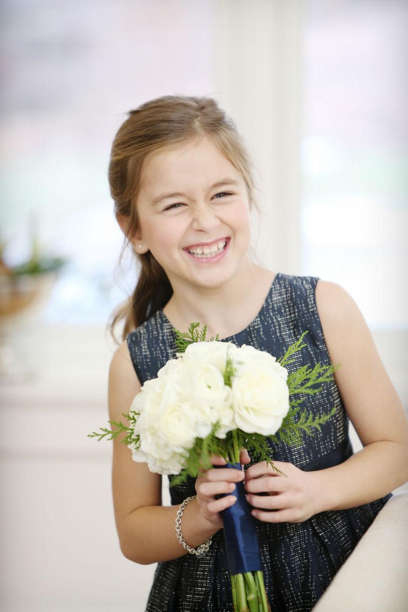 Philadelphia-Wedding-Planner-Event-Planning-New-Jersey-Delaware-Flower-Girl-White-Flowers-navy