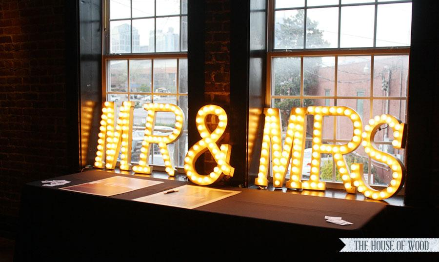 DIY Wedding Inspiration Marquee Lights Philly In Love