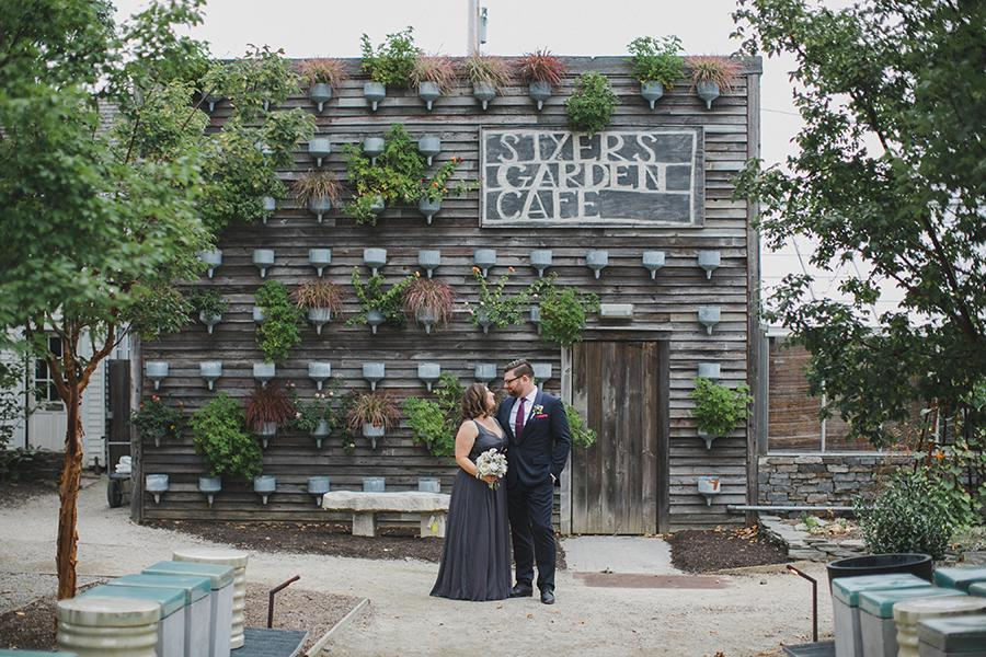 Wedding couple at Terrain Styers Cade