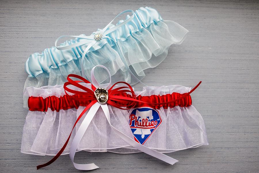 The Downtown Club Wedding Ashley Gerrity Photography Philadelphia Phillies Garter