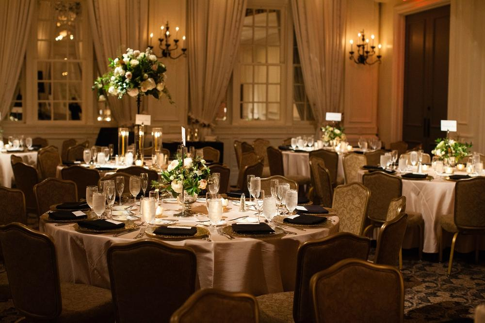 wedding room decoration pictures black and gold wedding at the bellevue by 1089
