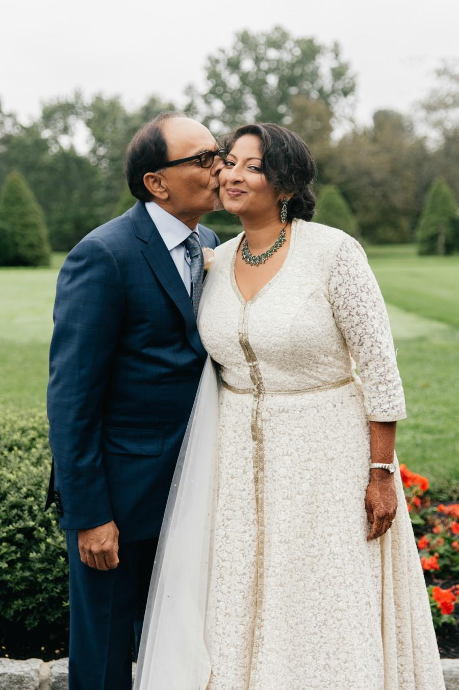 Bride and Dad Philadelphia Wedding The Yardley Country Club Papertini Floral Event Design