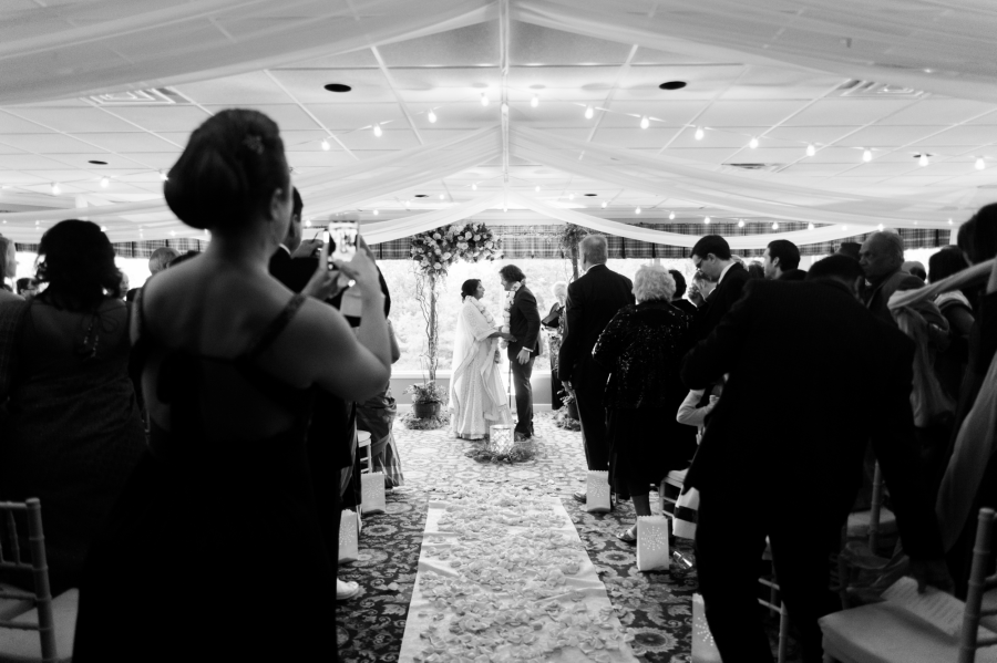 Wedding Aisle Philadelphia Wedding The Yardley Country Club Papertini Floral Event Design