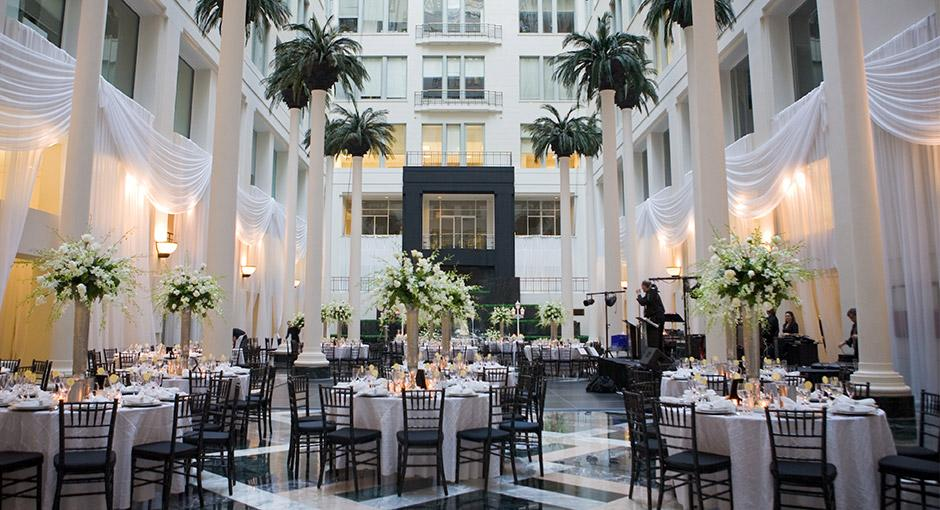 Cescaphe S Atrium At The Curtis Center Reception 51 This Wedding