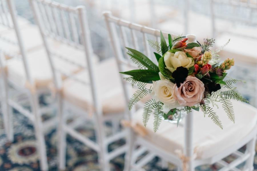 Floral Chairs Philadelphia Wedding The Yardley Country Club Papertini Floral Event Design