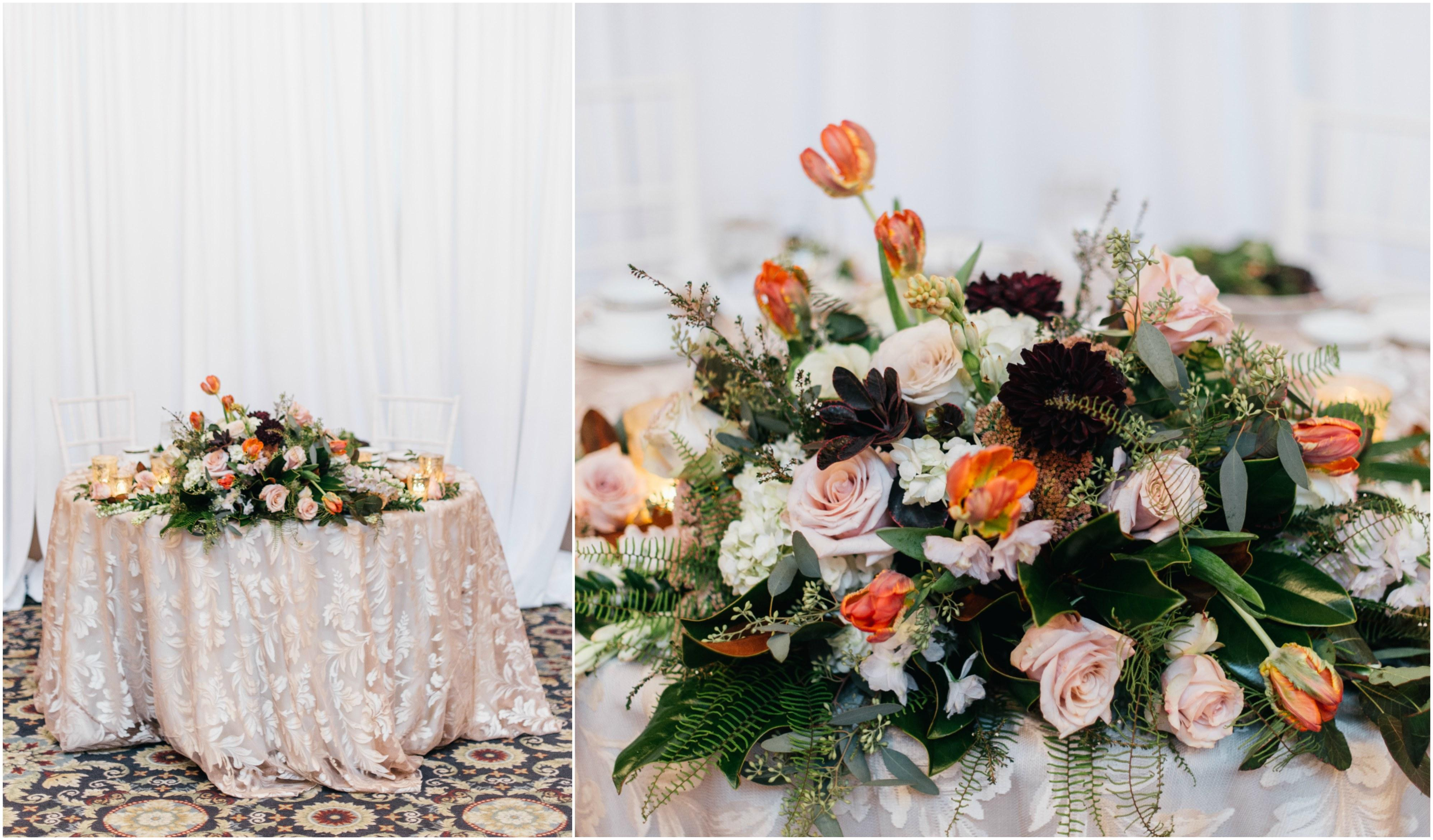 Sweetheart Table Philadelphia Wedding The Yardley Country Club Papertini Floral Event Design
