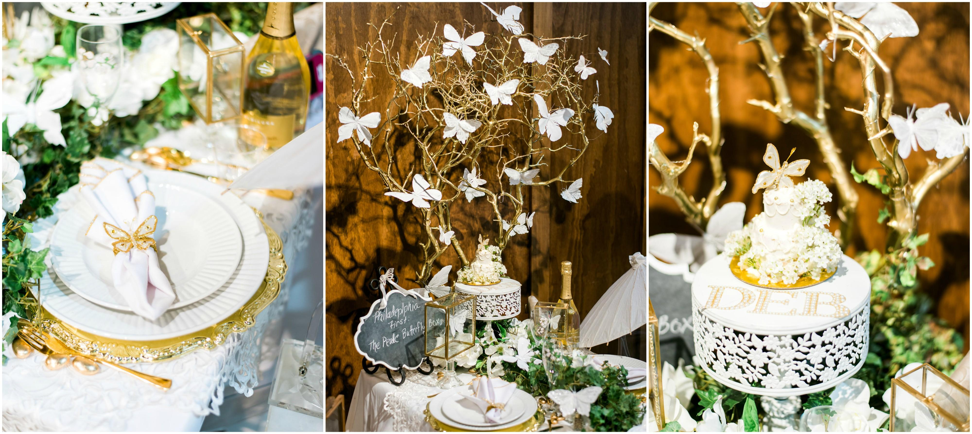 Diner en Blanc butterfly table