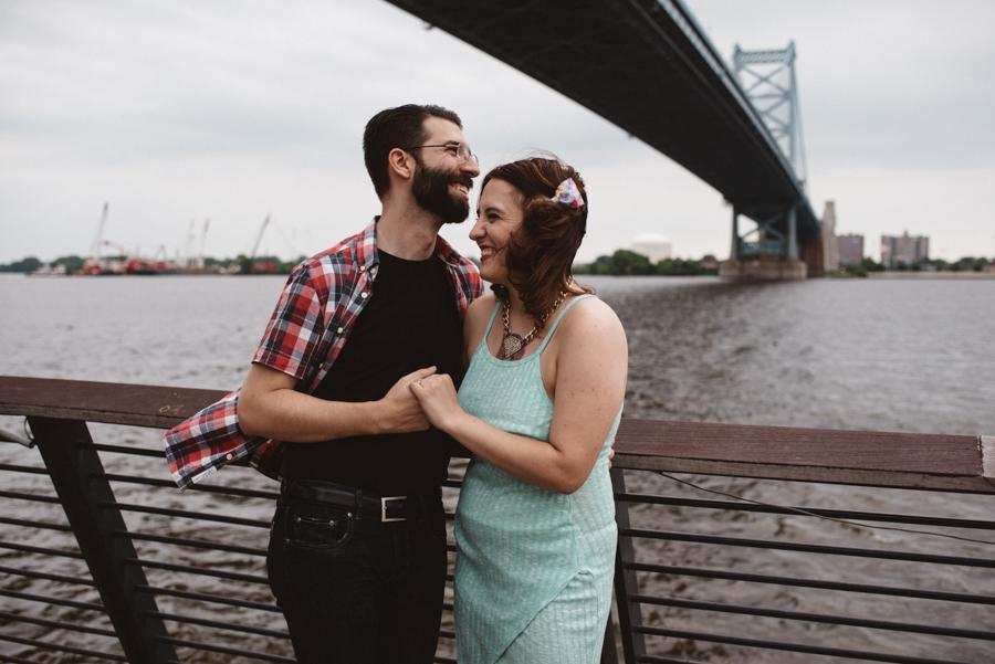 Race street pier engagement photo, iris and echo photography