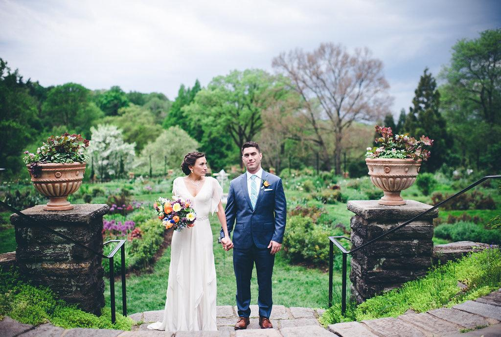 garden wedding at the morris arboretum by graced
