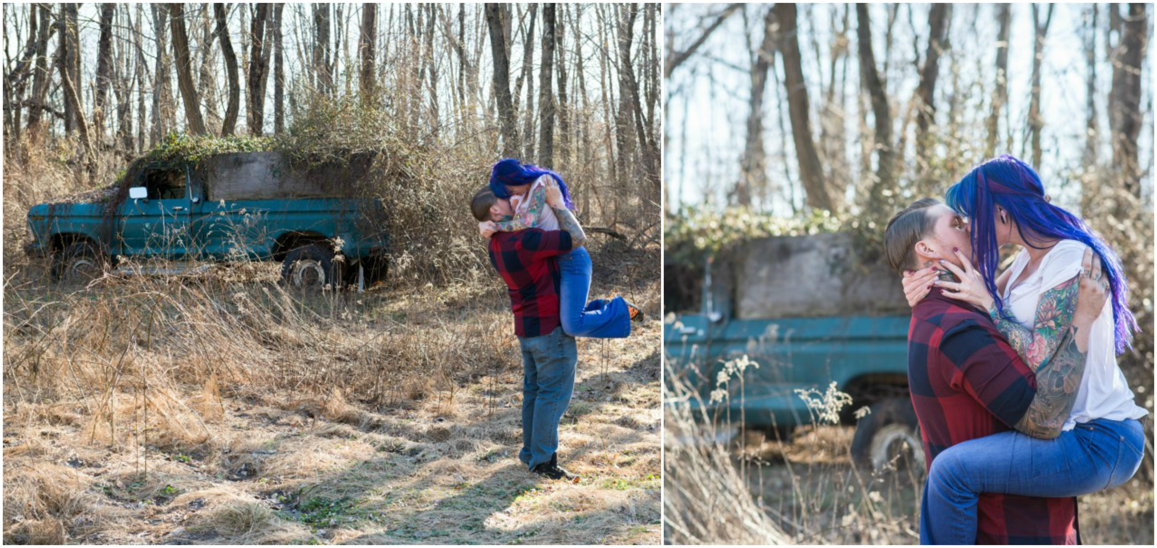 Bee Dee Blue Photography Halloween Engagement Session Philly In Love Philadelphia Photographer