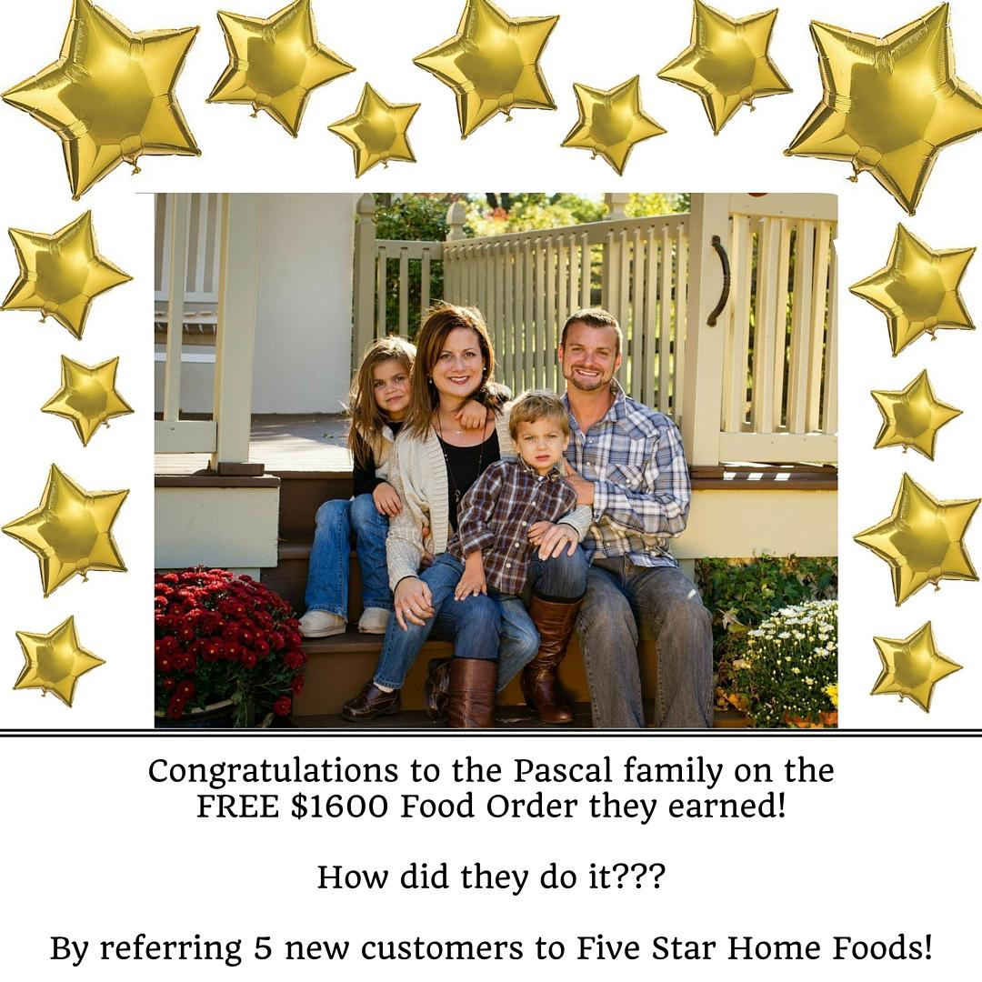 Congratulations to the Pascal family on the FREE $1600 Food Order they earned! How did they do it__