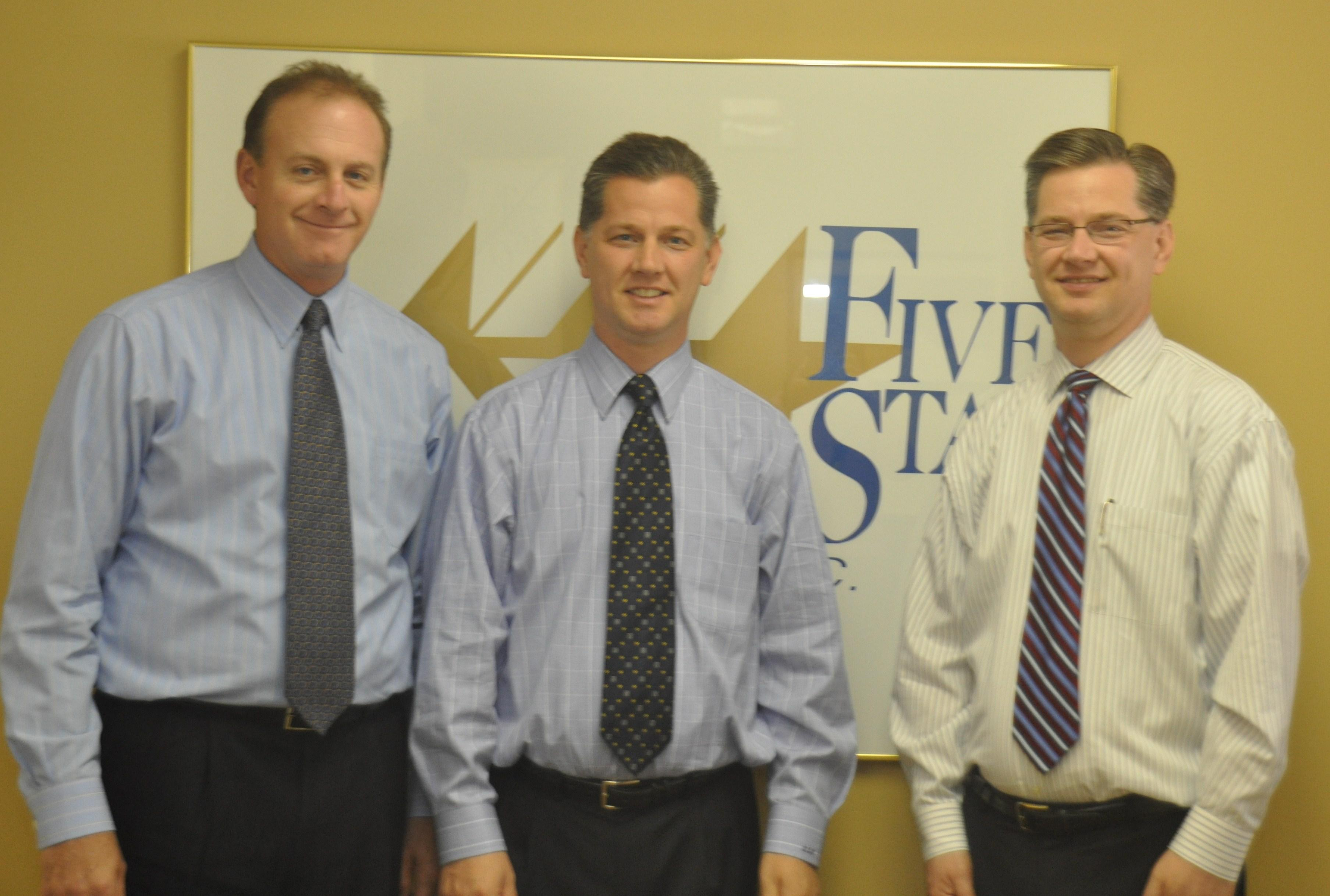 The proud owners of Five Star Home Foods, Bob Kane (VP Sales), Brian Holtzinger (VP Marketing) & Bruce Holtzinger (VP Finance). Photo Credit – Times Herald