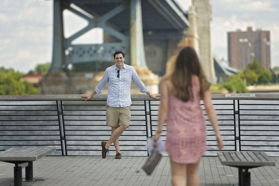 Race Street Pier Proposal by Kate Leigh Photography Philadelphia Photographer Philly In Love Philadelphia Weddings