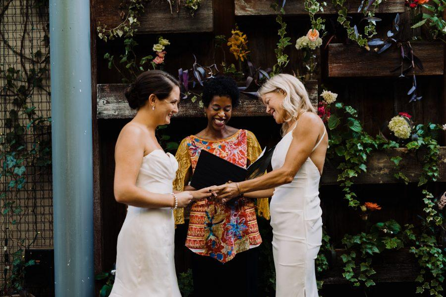 shannon and ruths intimate wedding at talulas garden by viva love photography philly in love - Talulas Garden