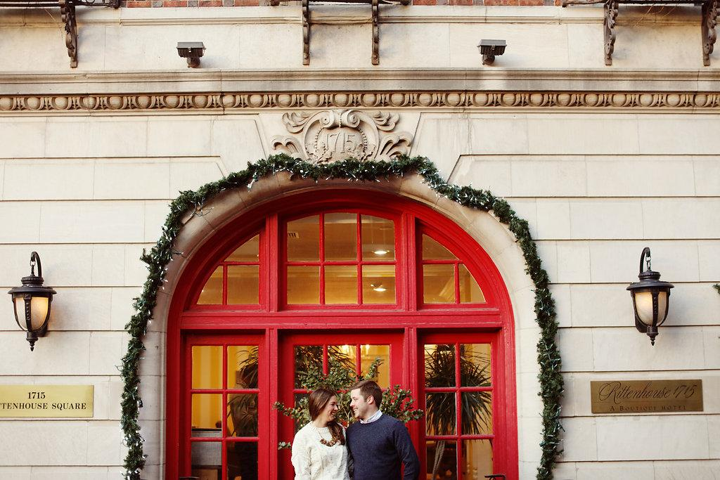 Festive Winter Engagement Session by Alison Conklin Photography Philadelphia Photographer Philly In Love Philadelphia Weddings
