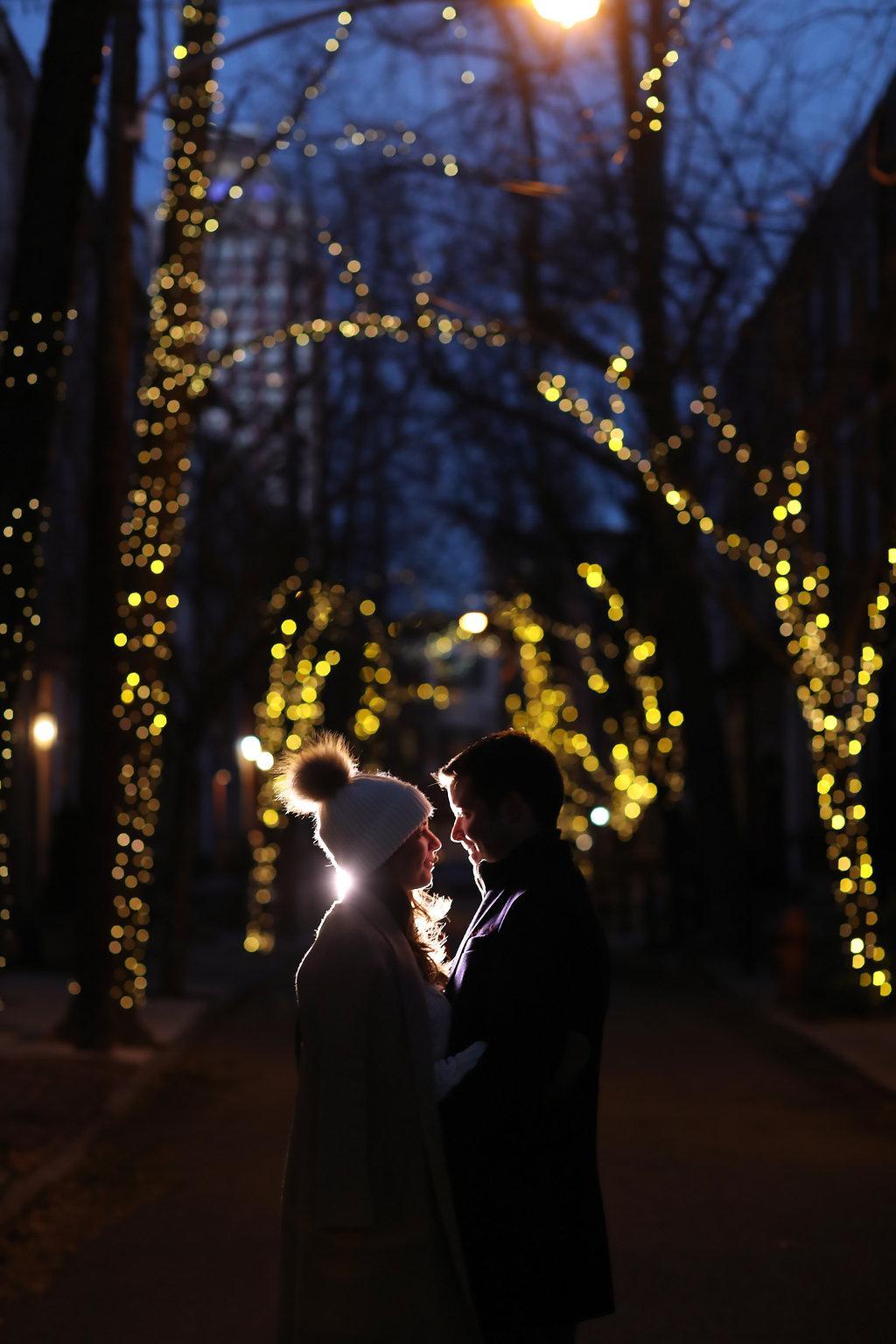 Festive Winter Engagement Session by Alison Conklin Photography Philadelphia Photographer Philly In Love Philadelphia Weddings