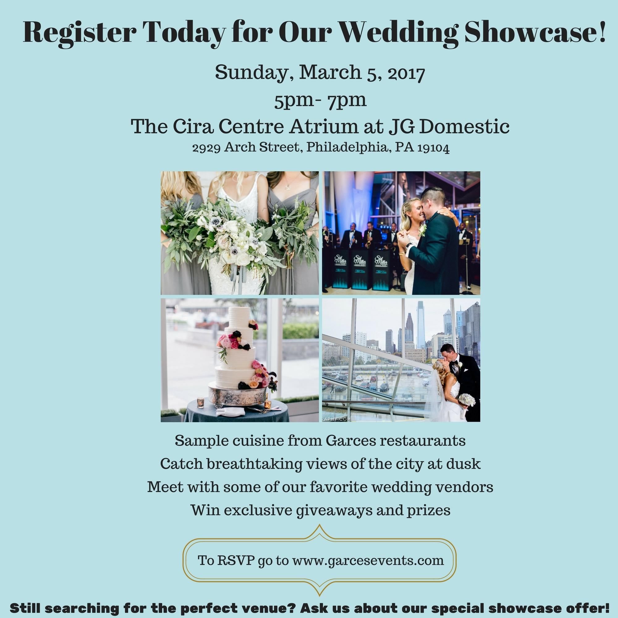 Garces Events Wedding Showcase at The Cira Centre Atrium at JG Domestic Philly In Love Philadelphia Weddings