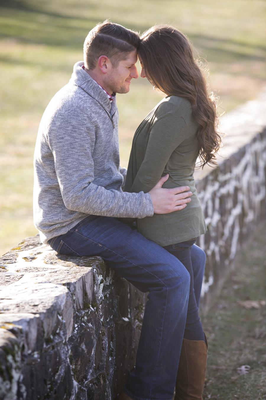 Romantic Winter Engagement Session by Heidi Roland Photography Philly In Love Philadelphia Wedding