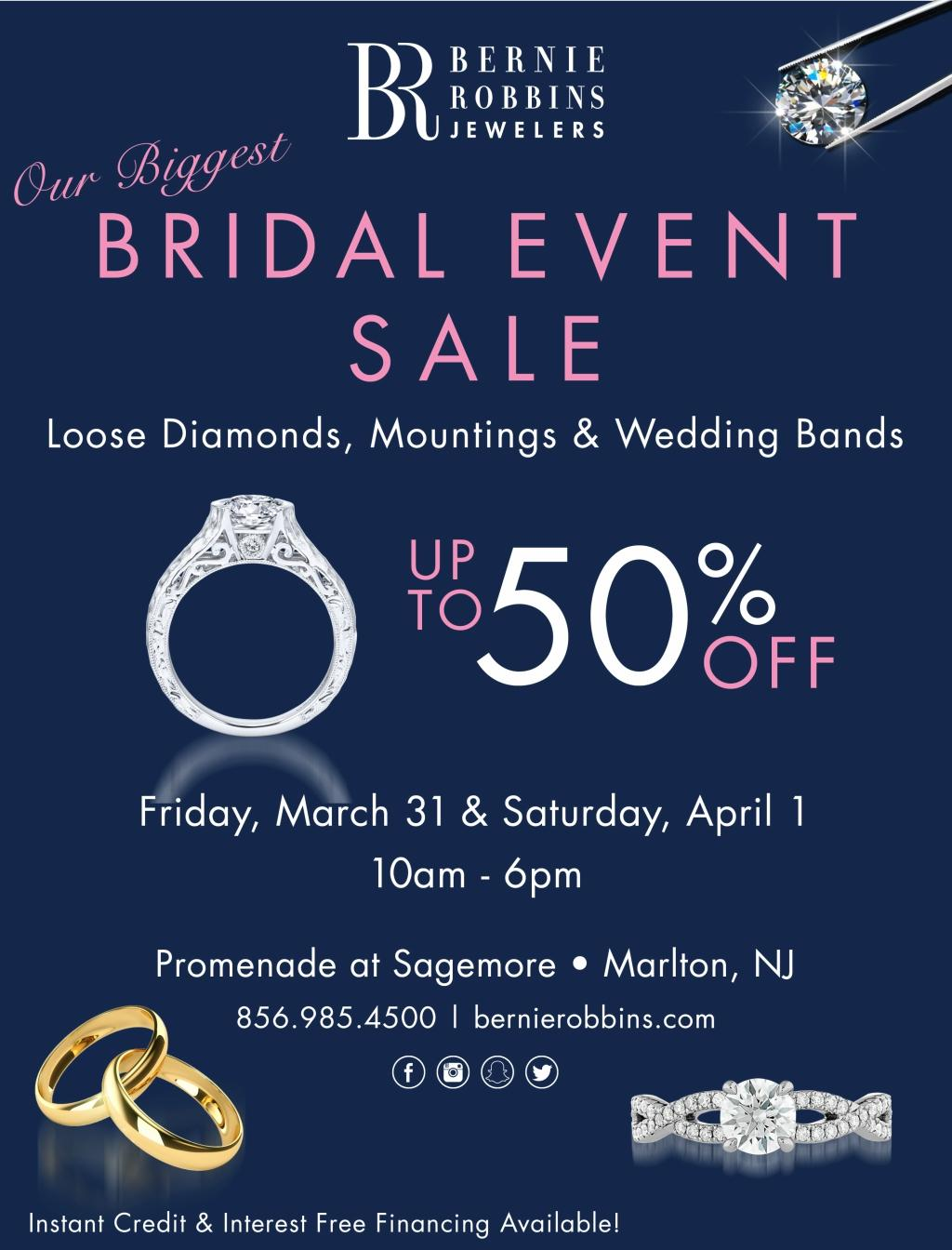 Bernie Robbins Jewelers Bridal Event Sale