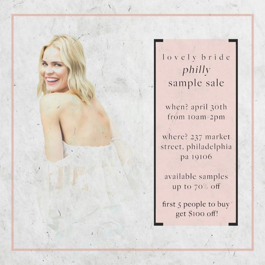 Lovely Bride Philadelphia Sample Sale