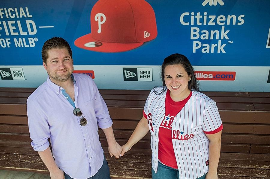 Citizens Bank Park Engagement Session by Melissa Kelly Photography Philly In Love Philadelphia Weddings