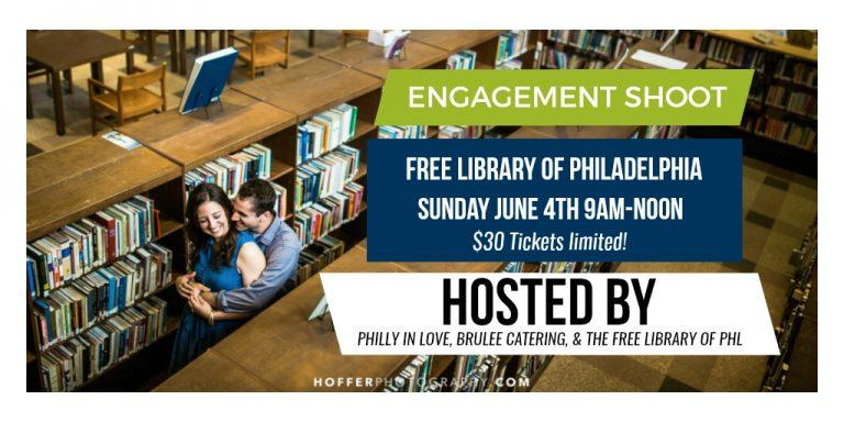Engagement Shoot at Free Library of Philadelphia Hoffer Photography Philly In Love Philadelphia Weddings Brulee Catering