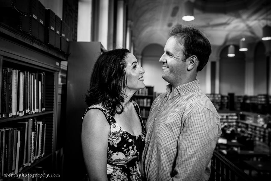 Engagement Session at The Free Library of Philadelphia Werth Photography Philadelphia Photographer Philly In Love Philadelphia Weddings
