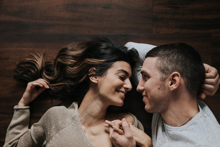 Intimate Home Engagement Session by Morgan Ellis Photography Philly In Love Philadelphia Weddings