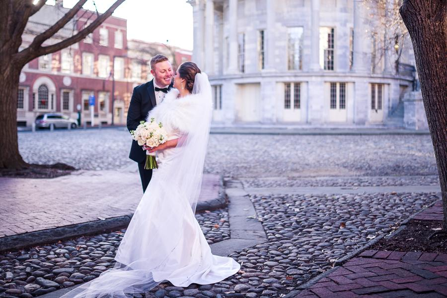 Chic Winter Wedding at Cescaphe Ballroom by Soult Studios Philly In Love Philadelphia Wedding
