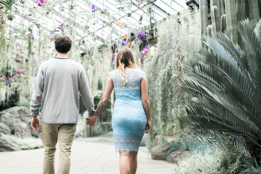 Botanical Love Engagement at Longwood Gardens Magdalena Studios Philly In Love Philadelphia Wedding Philadelphia Engagement