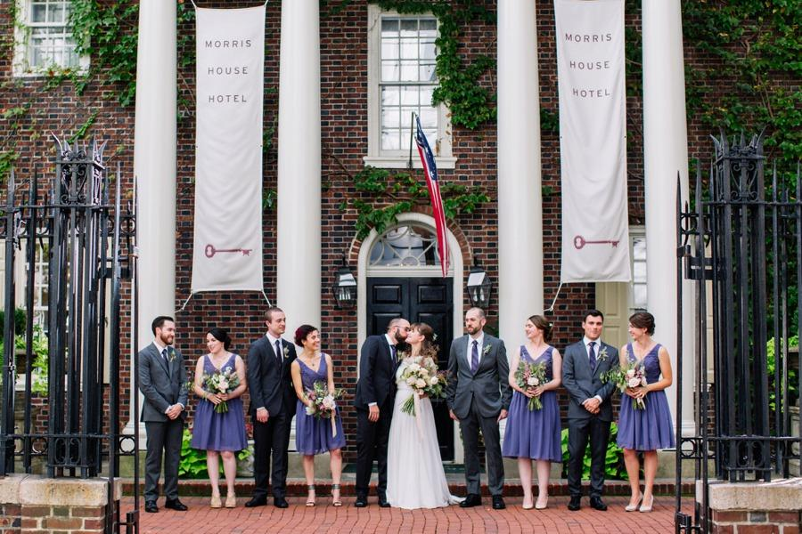 Jazzy Garden Party Wedding at the Morris House Hotel Brittney Raine Photography Philadelphia Wedding Photographer Philly In Love Philadelphia Wedding