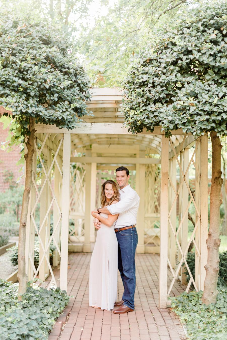 18th century garden, independence mall park engagement photos
