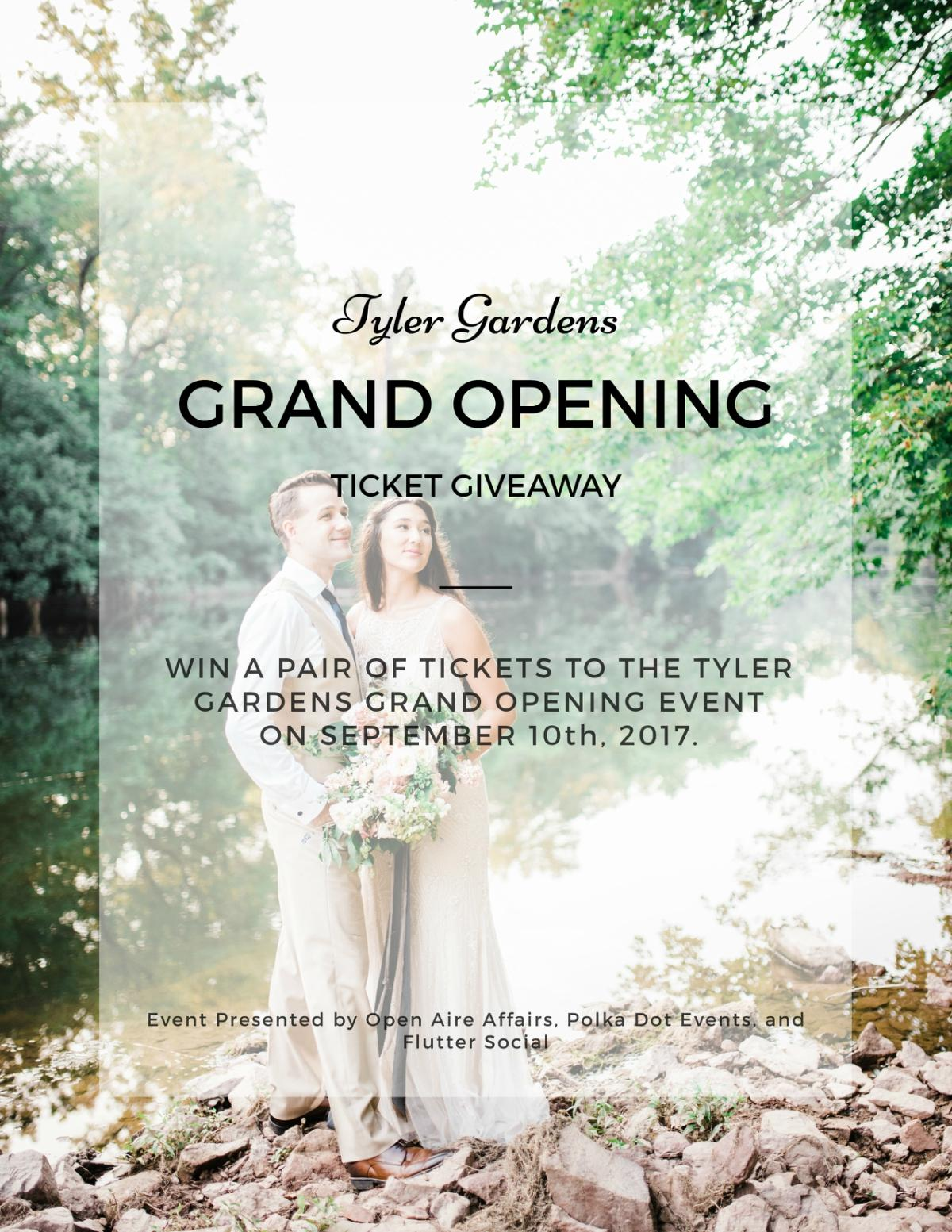Tyler Gardens Grand Opening Ticket Giveaway Open Aire Affairs Polka Dot Events Flutter Social Du Soleil Photographie