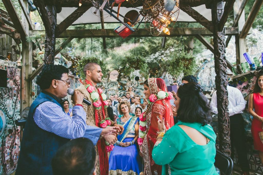 Indian American Wedding at Philadelphia's Magic Gardens All Heart Photo and Video Seedling and Sage Catering Philly In Love Philadelphia Weddings Philadelphia Wedding Vendors