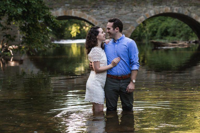 Enchanting Engagement Session at Wissahickon Creek Traci Elaine Photography Philly In Love Philadelphia Weddings Philadelphia Wedding Vendors