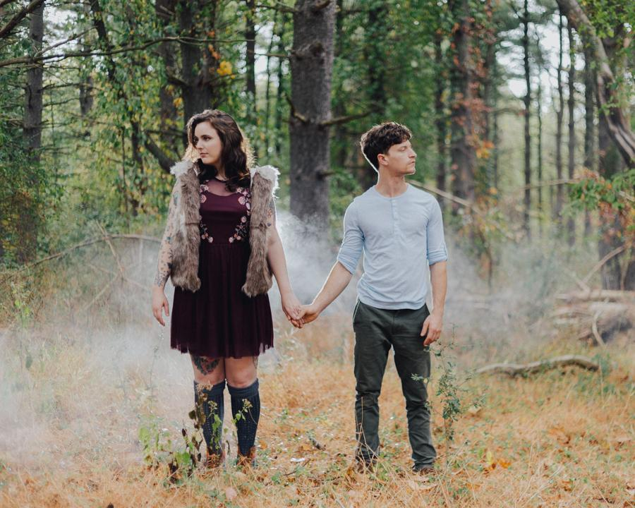 Moody Fall Engagement Session in Fort Washington State Park Captured by Caity Philadelphia Photographer Philly In Love Philadelphia Wedding