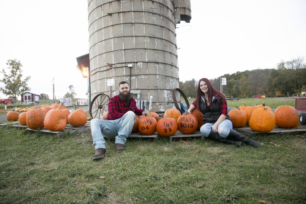 Fall Farm Engagement Session by Heidi Roland Photography Philly In Love Philadelphia Weddings Philadelphia Wedding Vendors