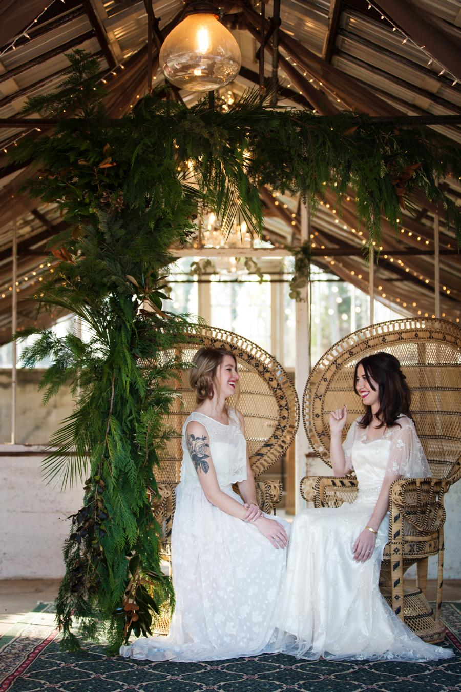 Winter Bohemian Greenhouse Bridal Inspiration Mariya Stecklair Photography Philly In Love Philadelphia Weddings