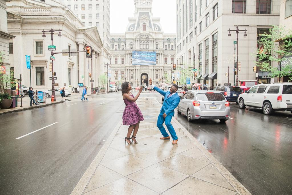 Center City Engagement Session by Tonjanika Smith Photography Philly In Love Philadelphia Weddings Venues Vendors