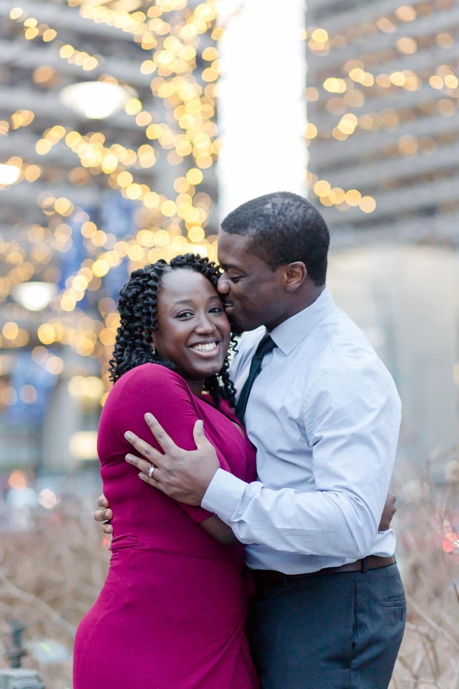 Charming Engagement Session at Dilworth Park Lytle Photo Co Philly In Love Philadelphia Weddings