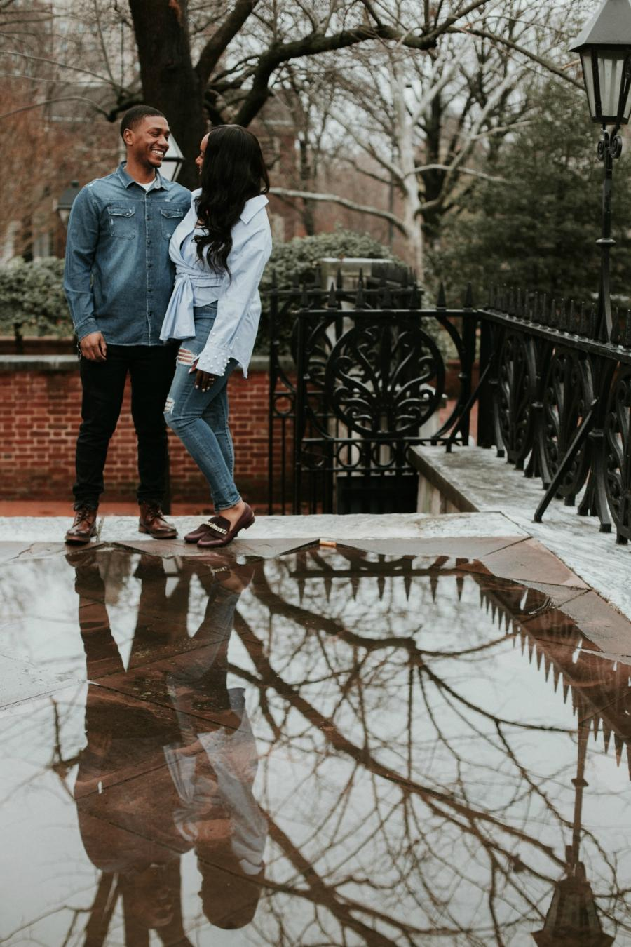 Washington Square West Engagement by True Fold Media Philly In Love Philadelphia Weddings Venues Vendors
