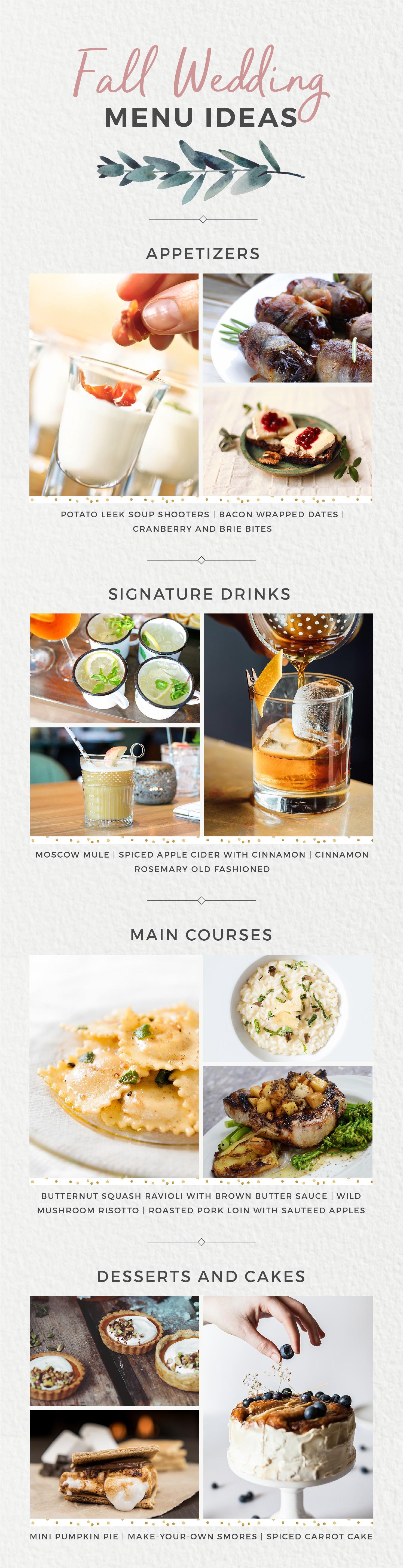 Wedding Menu Ideas for Every Season Fall Wedding Food Shutterfly Philly In Love Philadelphia Weddings