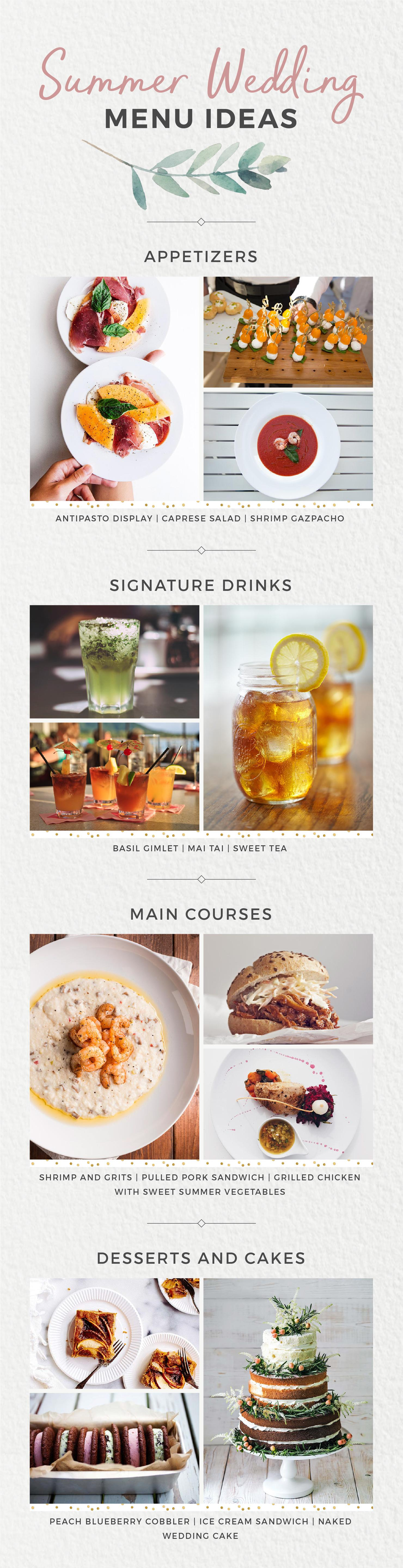 Wedding Menu Ideas for Every Season Summer Wedding Food Shutterfly Philly In Love Philadelphia Weddings