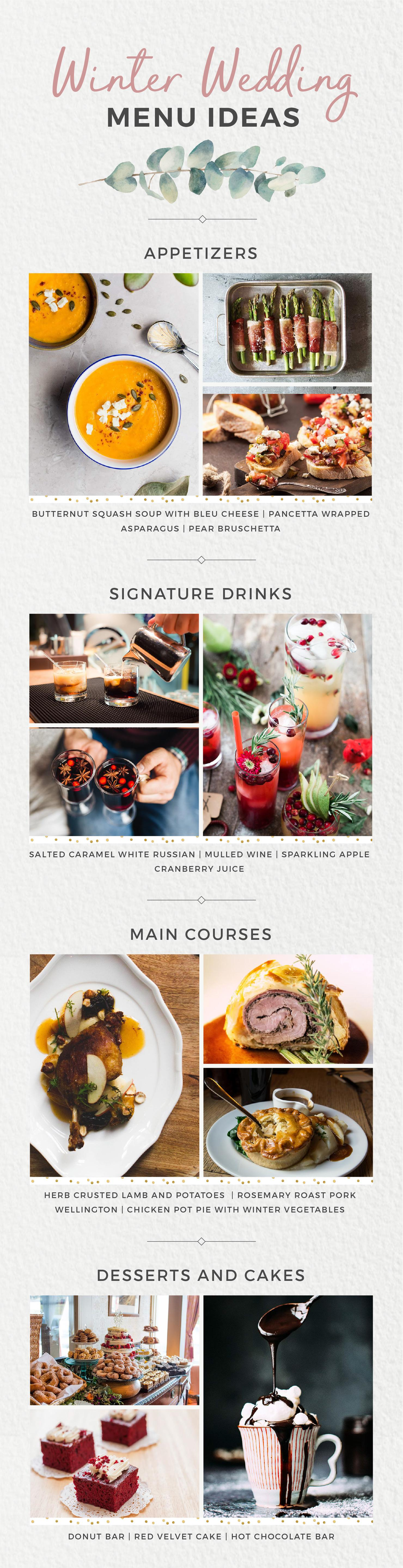 Wedding Menu Ideas for Every Season Winter Wedding Food Shutterfly Philly In Love Philadelphia Weddings