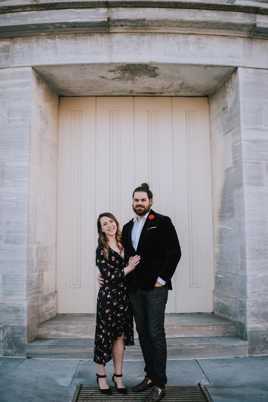 Romantic Old City Engagement Session by MLE Pictures Philly In Love Philadelphia Weddings Venues Vendors