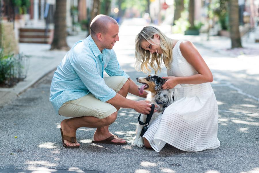 Charming Engagement Session at PHS Pop Up Garden South Street Emerald Stone Photography Philly In Love Philadelphia Wedding Blog Philadelphia Weddings Venues Vendors