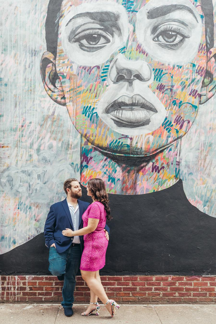 Mural Arts Engagement Session in Fishtown Kseniya Berson Photography Philly In Love Philadelphia Wedding Blog Venues Vendors