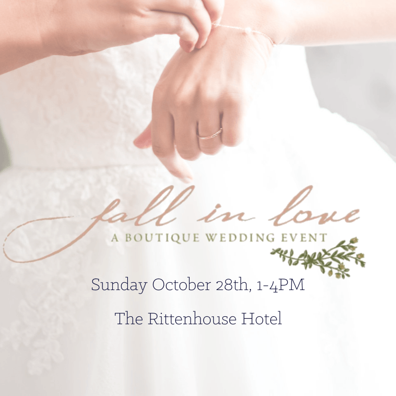 Fall In Love | A Boutique Bridal Event L. Priori Jewelry Philly In Love Philadelphia Weddings Venues Vendors